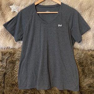 Under Armour Grey Short Sleeve V-Neck T-Shirt